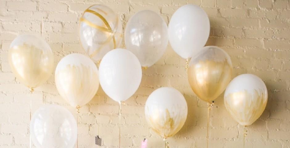 globos dorados
