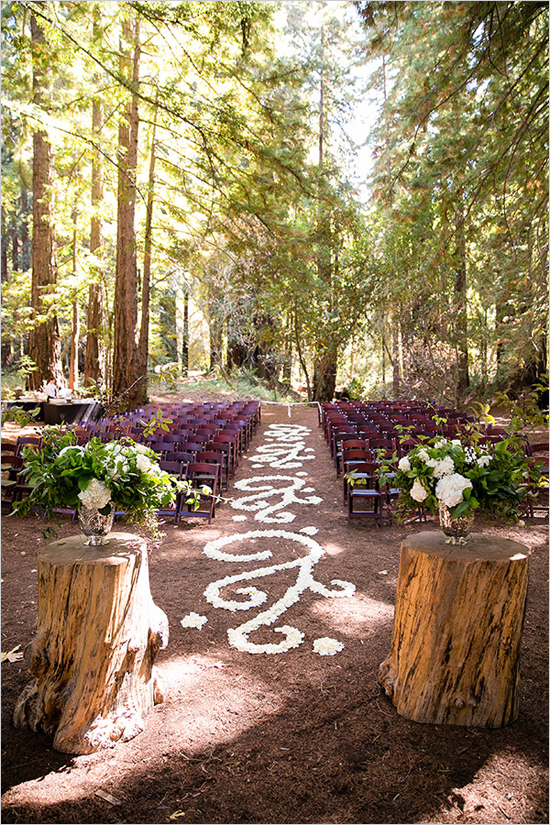 elegantforestweddingceremony