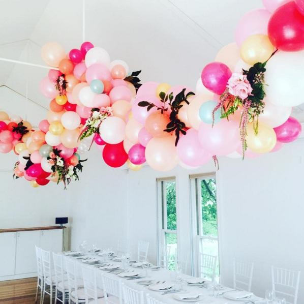 arco de flores y globos 2
