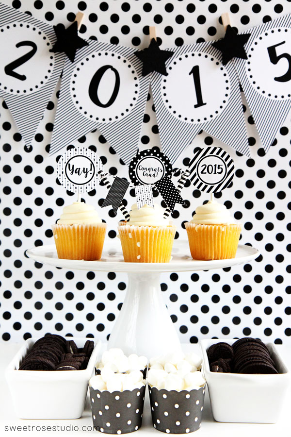 Black-and-White-Graduation-Party-Printables-1
