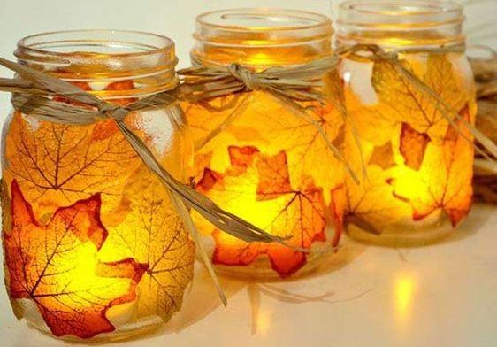 it party, itparty, tarro con hojas otoño