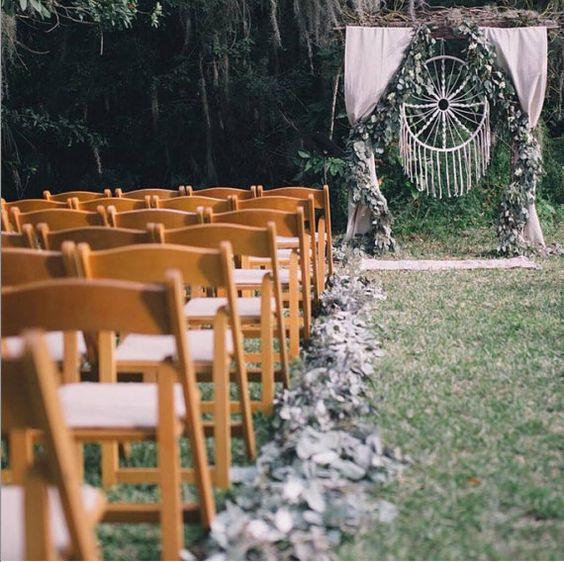atrapasueños boda pasillo