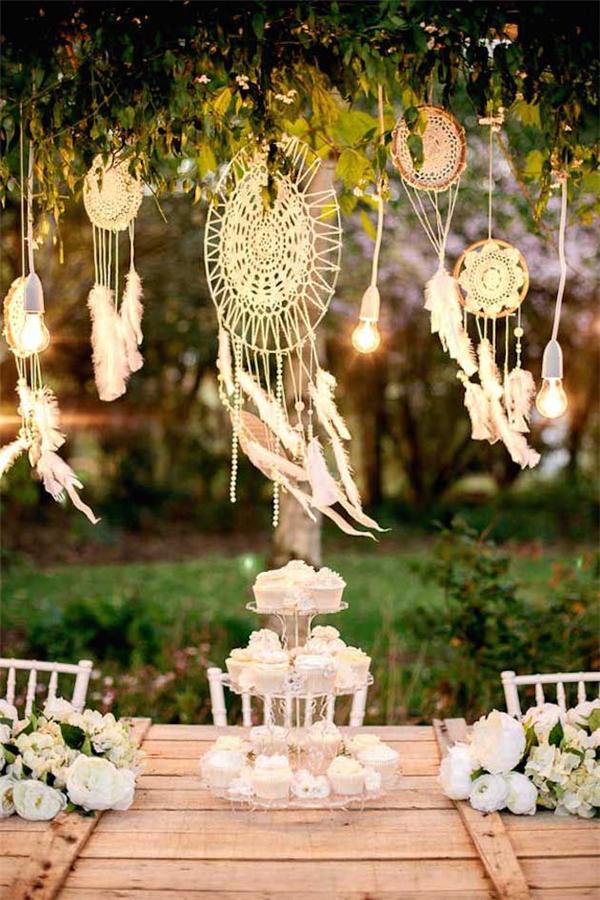 atrapasueños boda tarta