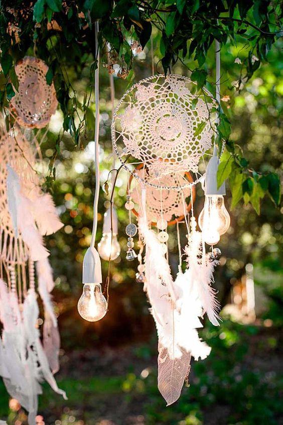 atrapasueños boda iluminación