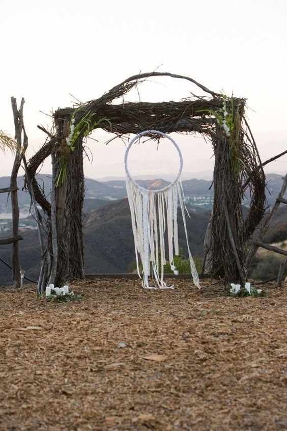 atrapasueños boda altar