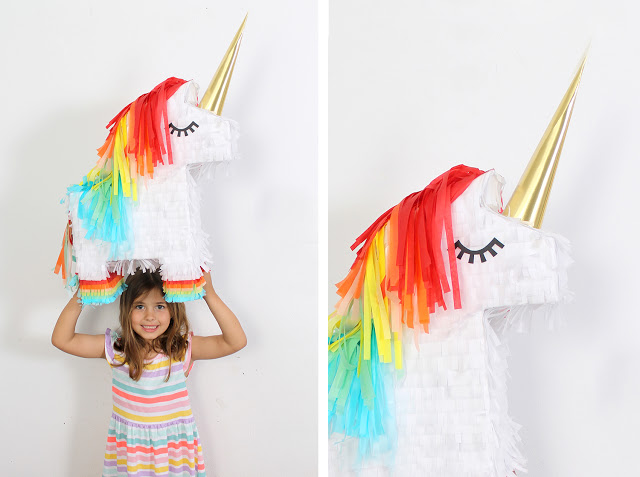 Fiesta unicornio con todo detalle