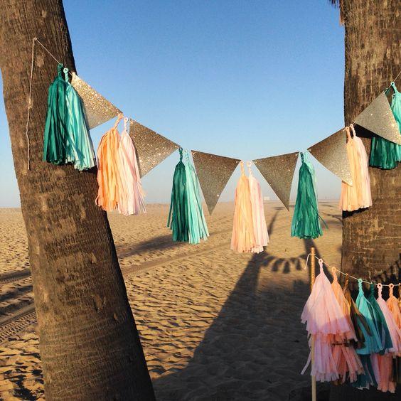 fiesta en la playa guirnalda