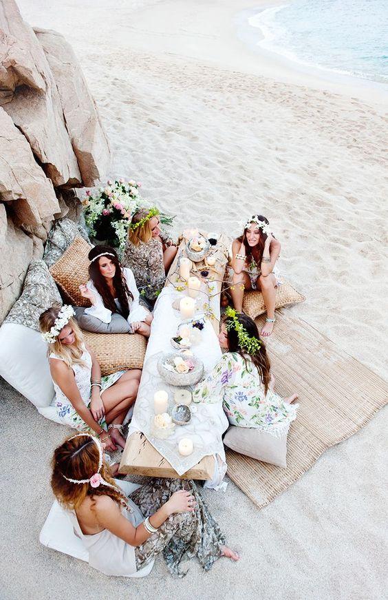 fiesta en la playa picnic