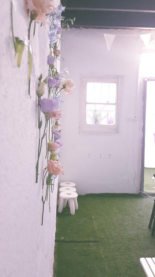 pared de flores