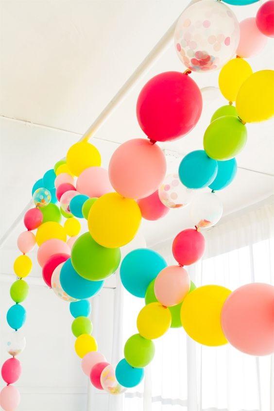 globos en cadena