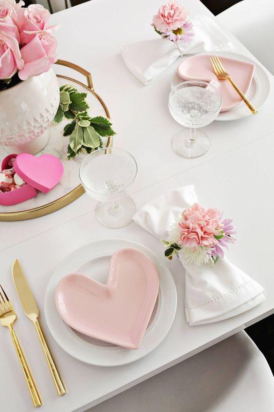 cena romántica en casa para San Valentín