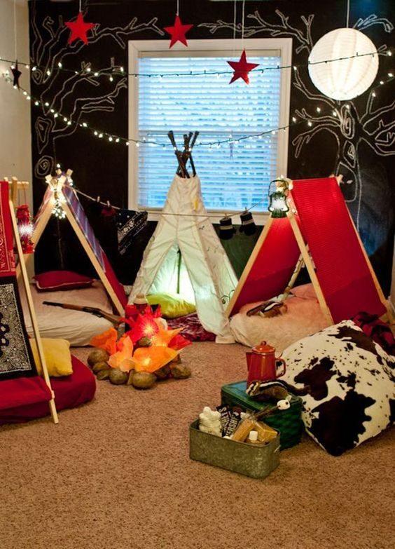 Una acampada en tu propia casa