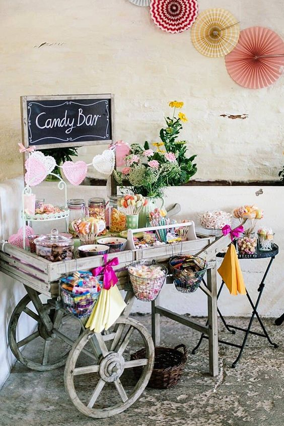 Ideas para diferentes tipos de candy bar
