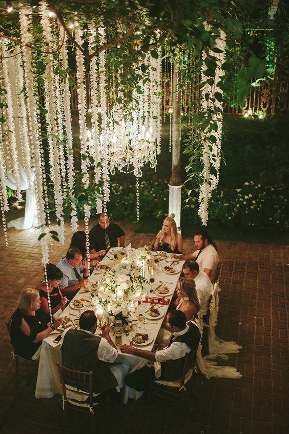 boda banquete luces